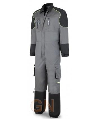 Buzo de tergal combinado gris/negro