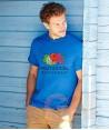 Camiseta Fruit of the Loom de algodón cuello redondo y manga corta Color azul