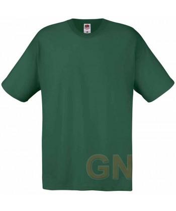 Camiseta Fruit of the Loom de algodón cuello redondo y manga corta Color verde botella