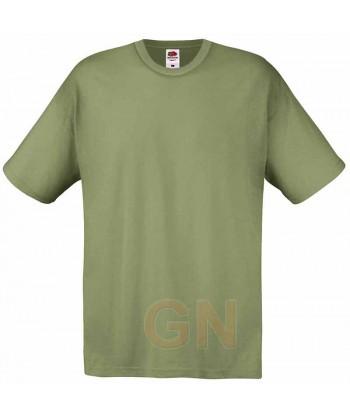 Camiseta Fruit of the Loom de algodón cuello redondo y manga corta Color verde oliva