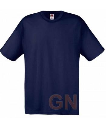 Camiseta Fruit of the Loom de algodón cuello redondo y manga corta Color marino