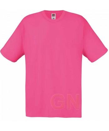 Camiseta Fruit of the Loom de algodón cuello redondo y manga corta Color fucsia