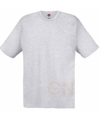 Camiseta Fruit of the Loom de algodón cuello redondo y manga corta Color gris heather