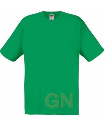 Camiseta Fruit of the Loom de algodón cuello redondo y manga corta Color verde kelly