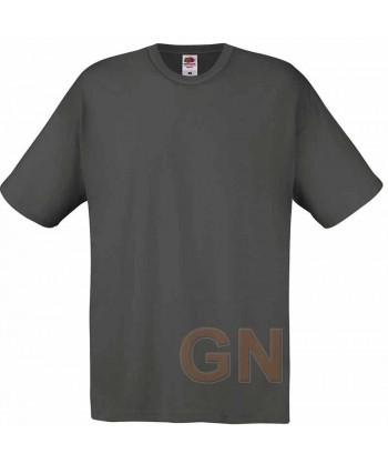Camiseta Fruit of the Loom de algodón cuello redondo y manga corta Color gris grafito