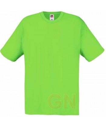 Camiseta Fruit of the Loom de algodón cuello redondo y manga corta Color verde lima