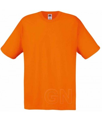 Camiseta Fruit of the Loom de algodón cuello redondo y manga corta Color naranja