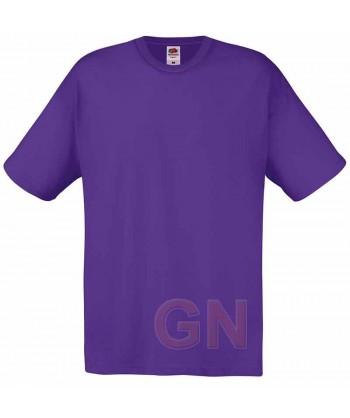 Camiseta Fruit of the Loom de algodón cuello redondo y manga corta Color púrpura