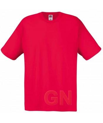 Camiseta Fruit of the Loom de algodón cuello redondo y manga corta color rojo