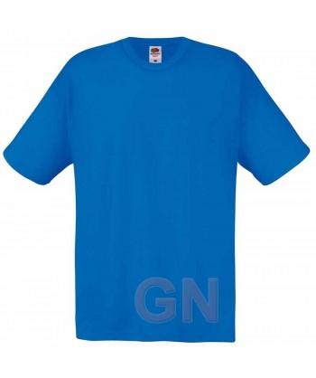 Camiseta Fruit of the Loom de algodón cuello redondo y manga corta Color royal