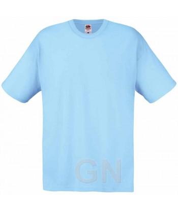 Camiseta Fruit of the Loom de algodón cuello redondo y manga corta Color celeste