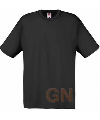 Camiseta Fruit of the Loom de algodón cuello redondo y manga corta color negro