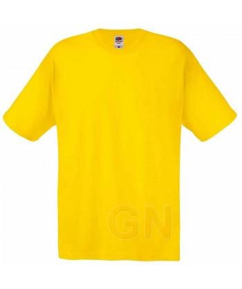 Camiseta Fruit of the Loom de algodón cuello redondo y manga corta Color amarillo