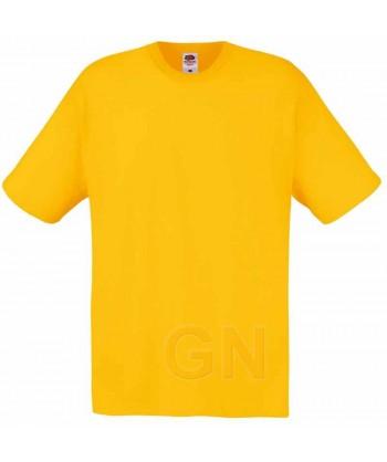 Camiseta Fruit of the Loom de algodón cuello redondo y manga corta Color girasol