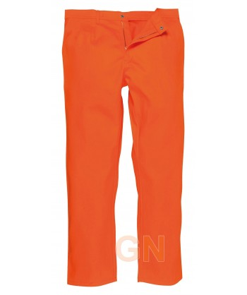 Pantalón ignífugo grueso color naranja