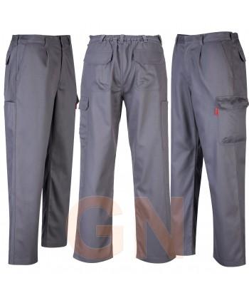 Pantalón ignífugo grueso color gris