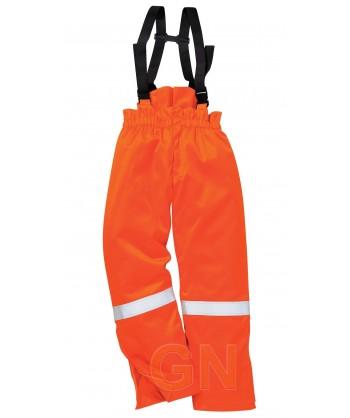Pantalón ignífugo, antiestático y acolchado color naranja