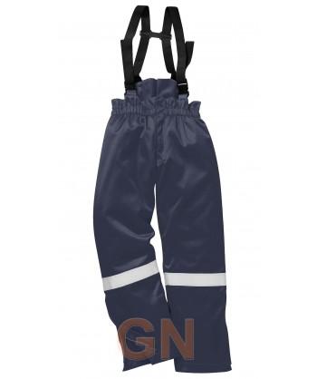 Pantalón ignífugo, antiestático y acolchado color marino