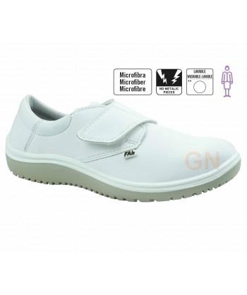 Zapato sanitario de mujer antideslizante y transpirable cierre velcro