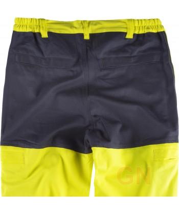 Pantalón de grueso ignífugo, anti arco y antiestático de alta visibilidad