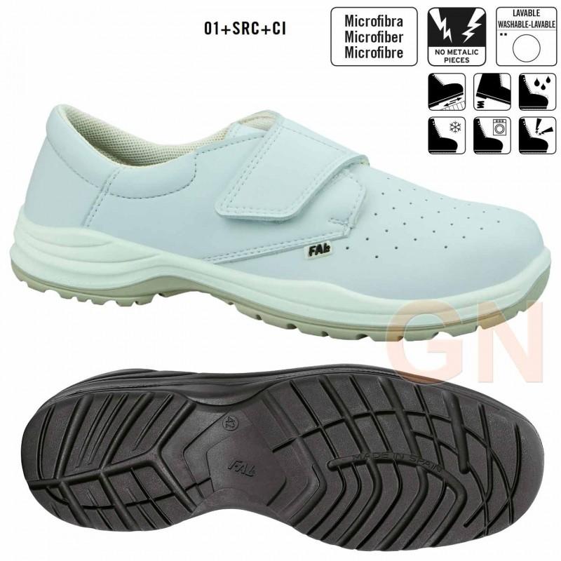 Zapato sanitario de hombre perforado cierre velcro