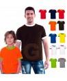 Camiseta manga corta bicolor