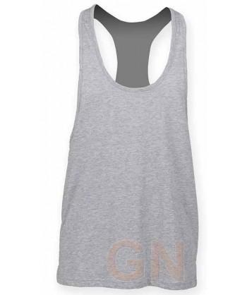 Camiseta de tirantes finos para hombre color gris