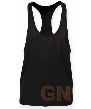 Camiseta de tirantes finos para hombre color negro
