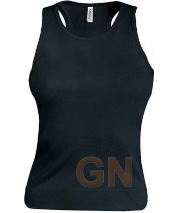 Camiseta de tirantes para mujer color Color negro