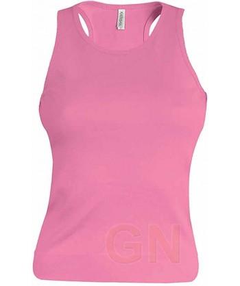 Camiseta de tirantes para mujer color Color fucsia