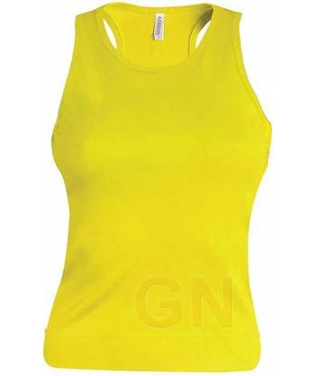 Camiseta de tirantes para mujer color Color amarillo