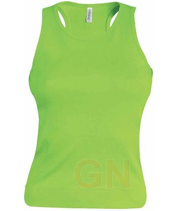 Camiseta de tirantes para mujer color Color lima