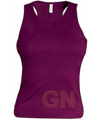Camiseta de tirantes para mujer color Color purpura