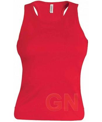 Camiseta de tirantes para mujer color Color rojo