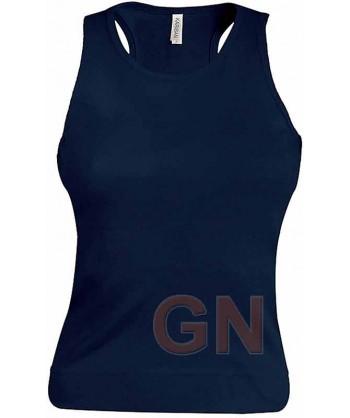 Camiseta de tirantes para mujer color Color marino