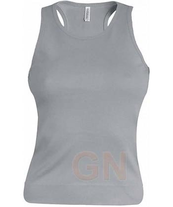 Camiseta de tirantes para mujer color Color gris claro