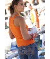 Camiseta de tirantes para mujer color Color naranja