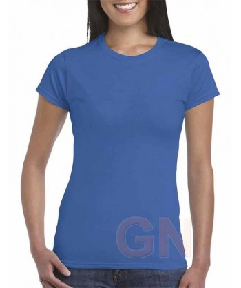 Camiseta manga corta para mujer Color royal