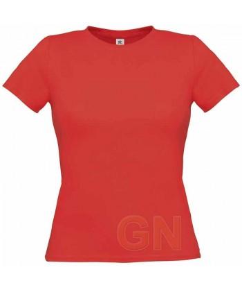 Camiseta manga corta para mujer Color rojo