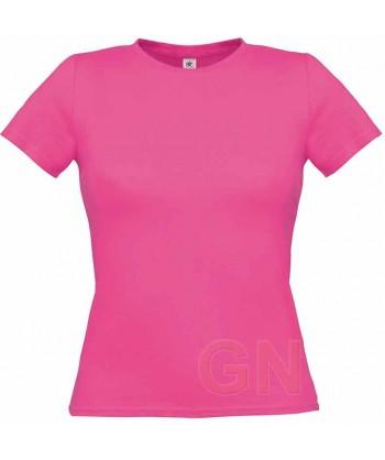 Camiseta manga corta para mujer Color fucsia