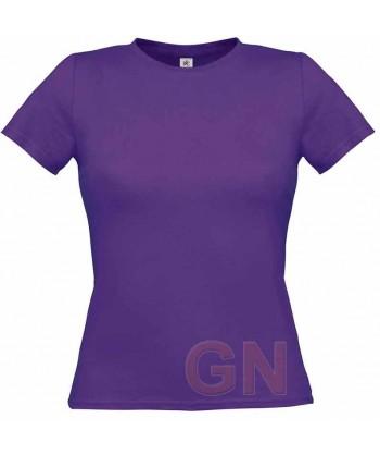 Camiseta manga corta para mujer Color púrpura