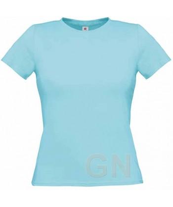 Camiseta manga corta para mujer Color celeste