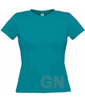 Camiseta manga corta para mujer Color azul atoll