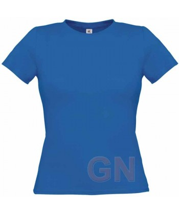 Camiseta manga corta para mujer Color azul