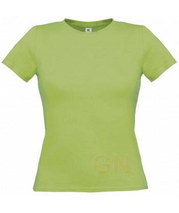 Camiseta manga corta para mujer Color verde pistacho