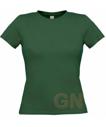Camiseta manga corta para mujer Color verde botella