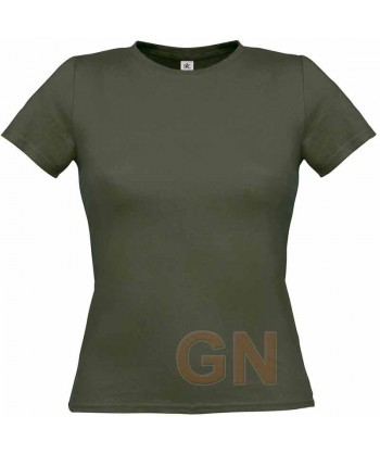 Camiseta manga corta para mujer Color kaky