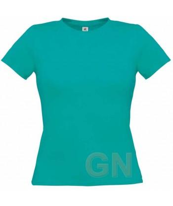 Camiseta manga corta para mujer Color azul turquesa