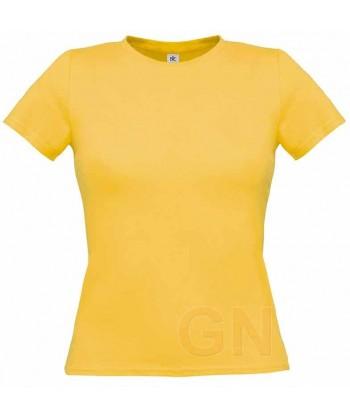 Camiseta manga corta para mujer Color oro