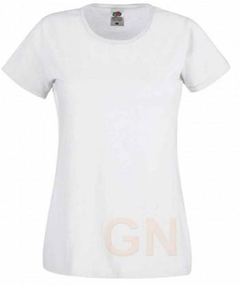 Camiseta manga corta de Fruit of the Loom para mujer Color blanco